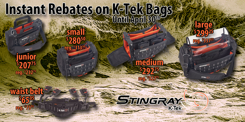 Rebates on K-Tek Stingray Bags
